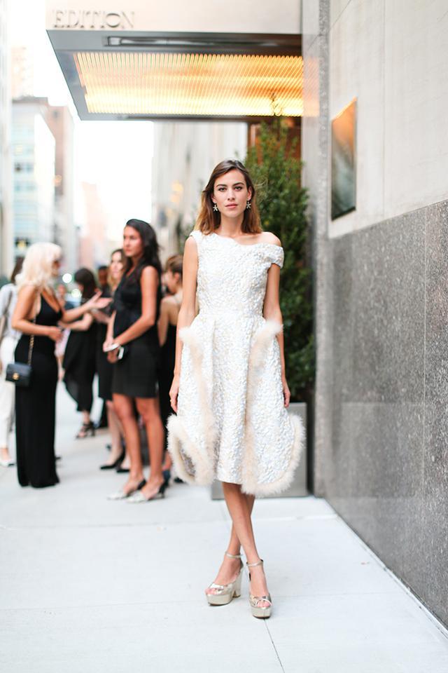 Alexa Chung white dress
