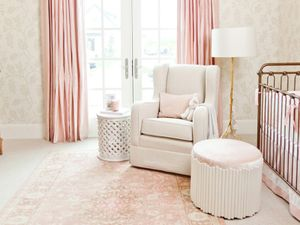 Inside a Perfectly Elegant Pink-and-Gold Nursery