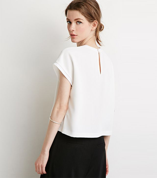 Forever 21 Ribbed-Trim Top