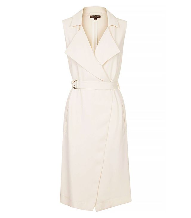 Topshop Sleeveless Belted Duster