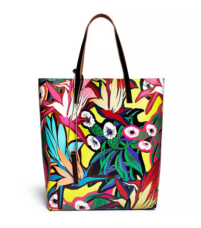 Marni Tropical Floral Canvas Tote