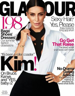 Kim Kardashian Glows On The New Cover Of Glamour Magazine
