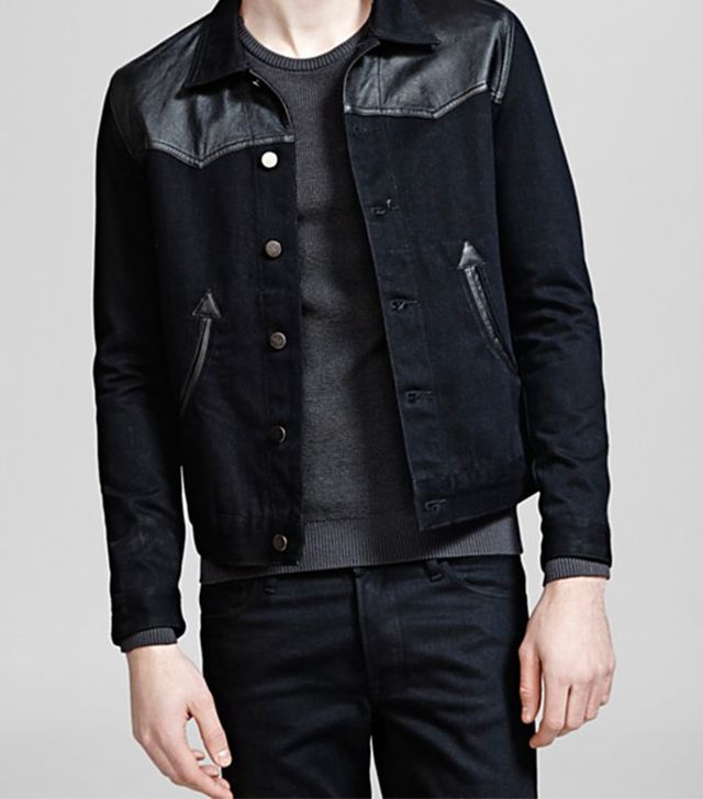 The Kooples Raw Denim Jacket