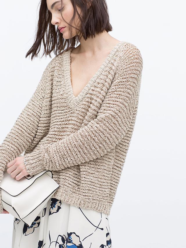 Zara Open Knit Sweater