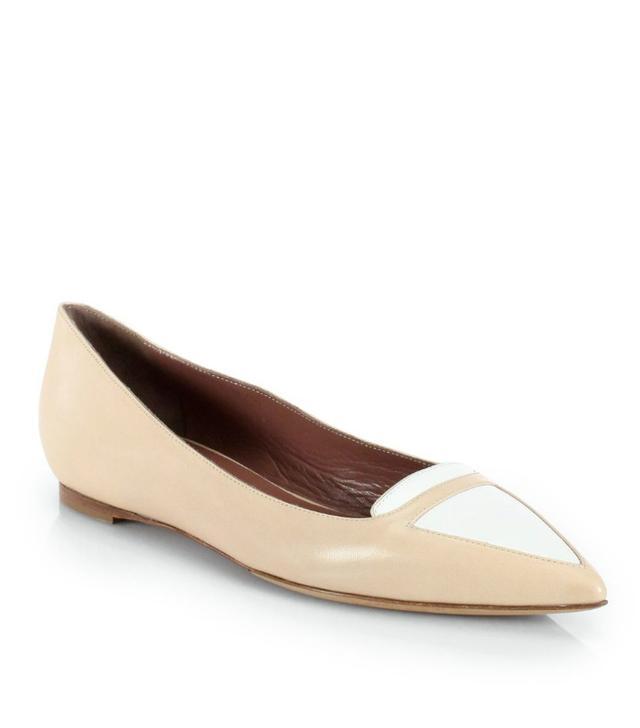 Tabitha Simmons Alexa Bicolor Patent Leather Ballet Flats