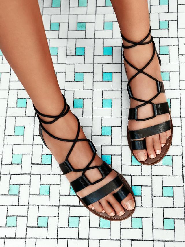 Free People Vegan Maddie Tie Up Sandals