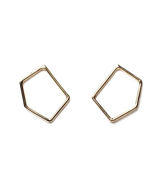 Erin Considine Ambit Brass Earrings