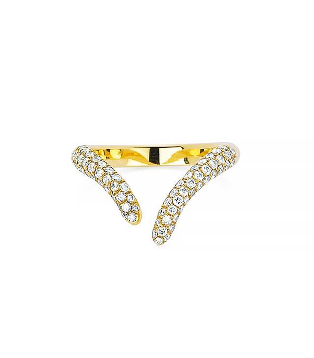 Logan Hollowell Diamond Tusk Wrap Ring