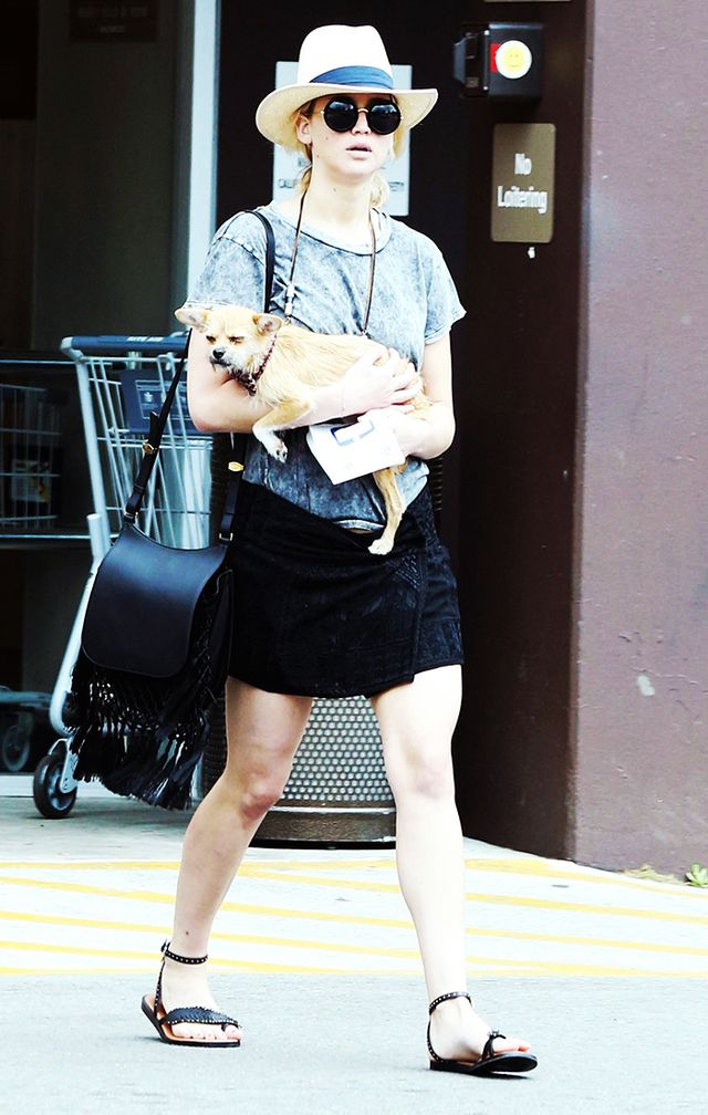 On Lawrence: Isabel Marant Andy Skirt ($459); The Row Macrame Hunting Bag ($6200); Coach Beach Sandals ($195); Banana Republic Tina Hat ($50); The Row for Linda Farrow Gallery The Row 8 Sunglasses...