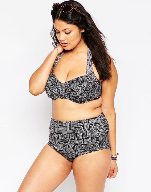 ASOS Curve Aztec Highwaist Bikini Bottoms