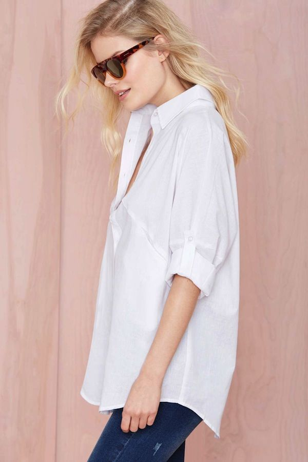 Nasty Gal Melanie Button Up Shirt