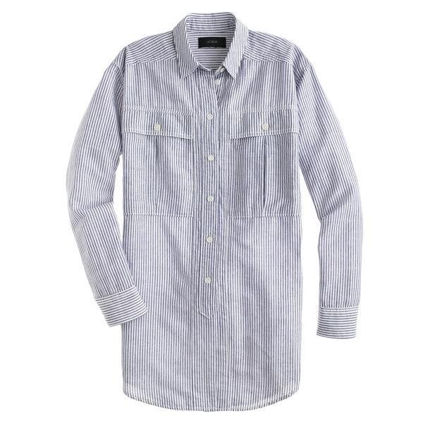 J.Crew Oversized Shirt In Skinny Stripe