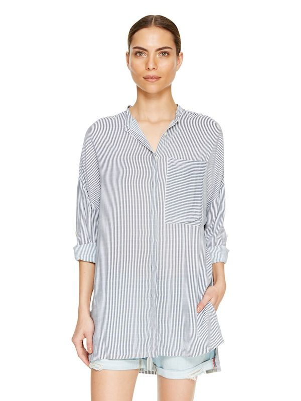 DKNYpure Stripe Oversized Shirt