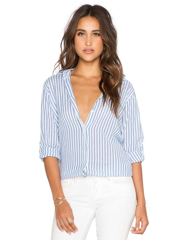 SUNDRY Stripe Oversized Shirt