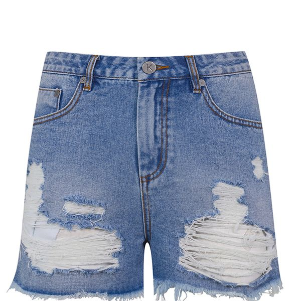 Kendall + Kylie at Topshop Ripped Denim Shorts