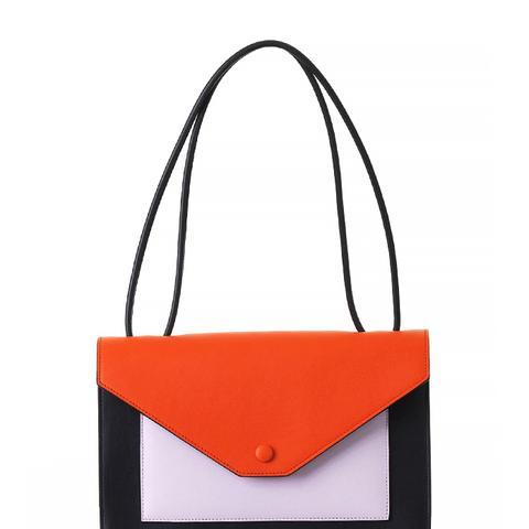 Pocket Flapbag, Bright Orange Multicolor