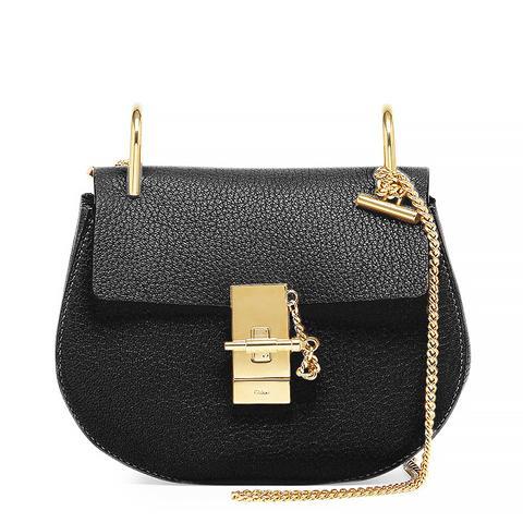 Drew Mini Chain Shoulder Bag, Black