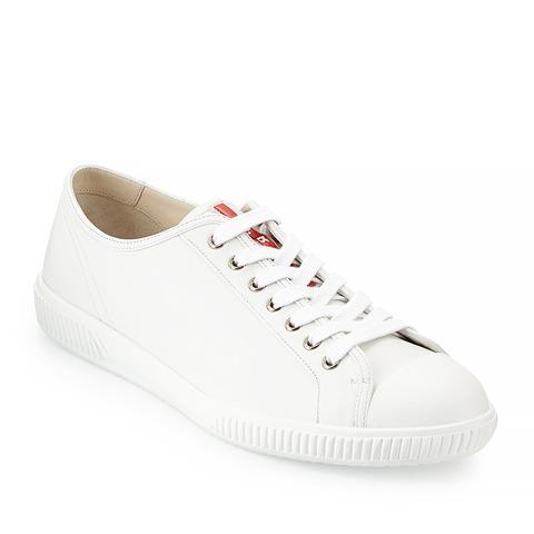 Cap-Toe Low-Top Sneaker, White