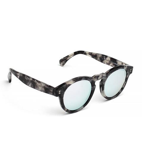 Leonard Round Sunglasses, Granite