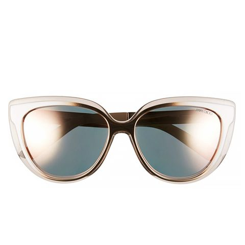 'Cindy' 57mm Retro Sunglasses, Aqua