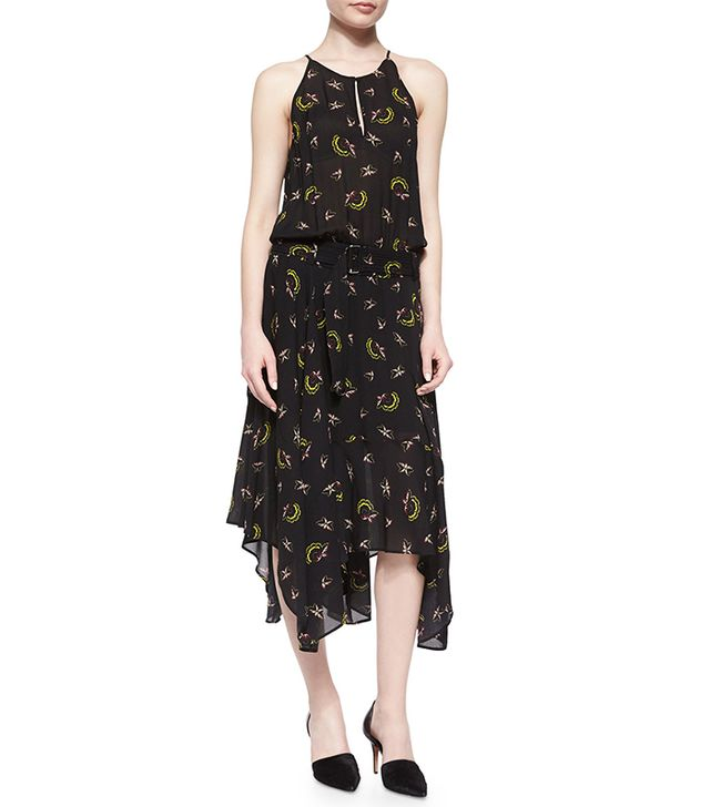 A.L.C. Halter Printed Handkercheif-Hem Dress