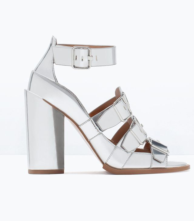 Zara Buckled Mirror Sandals