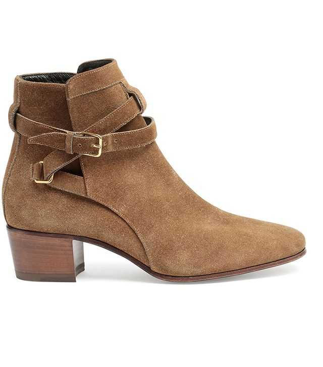 Saint Laurent Blake Jodhpur Suede Ankle Boots