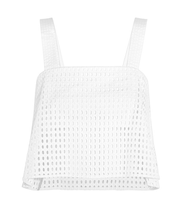 3.1 Phillip Lim Cropped Broderie Anglaise Top