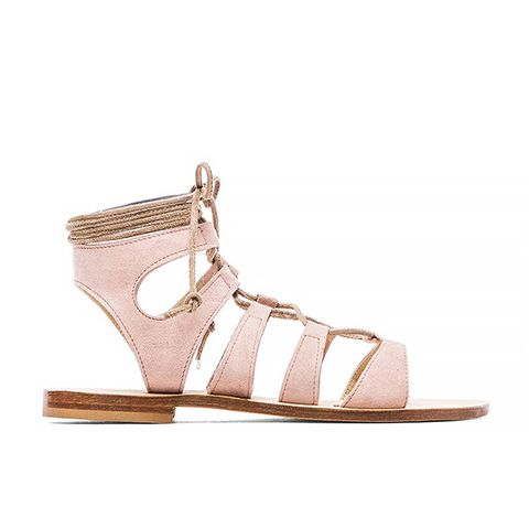 Recommone Gladiator Sandals, Blush