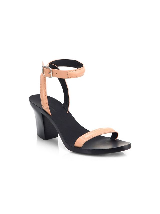Alexander Wang Ilva Leather Block-Heel Sandals