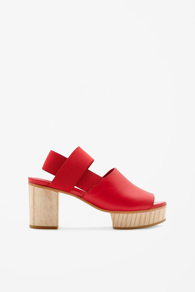 COS Wood Heel Sandals