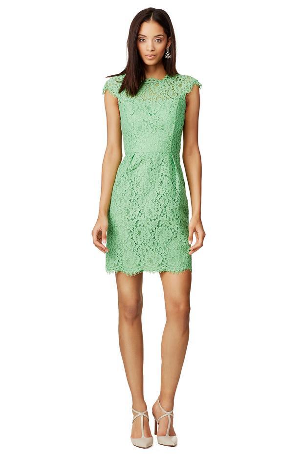 Shoshanna Apple Olivia Dress