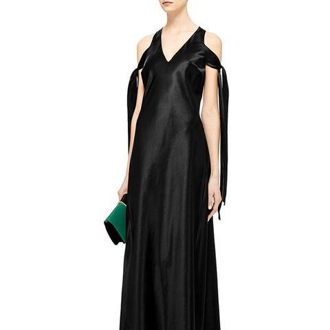 Ironic Bias-Cut Satin Gown