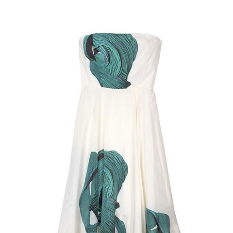 Midori Silk Strapless Dress