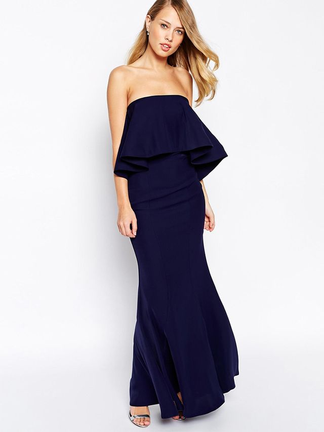 Jarlo Lily Bandeau Maxi Dress With Exaggerated Frill