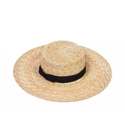 The Spencer Wide Brimmed Boater, Straw