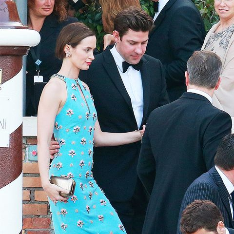 celebrity wedding guest outfits: emily blunt