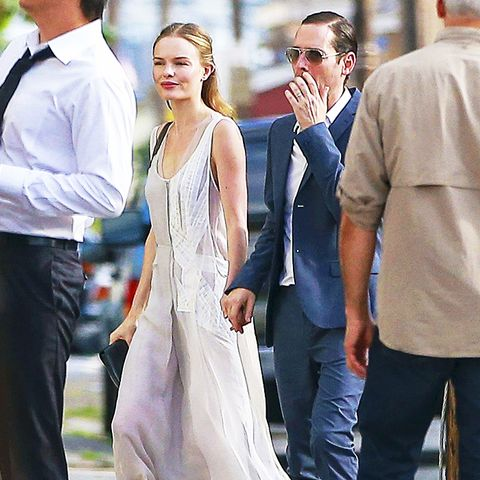 celebrity wedding guest outfits: kate bosworth