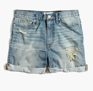Madewell High-Rise Denim Boyshorts
