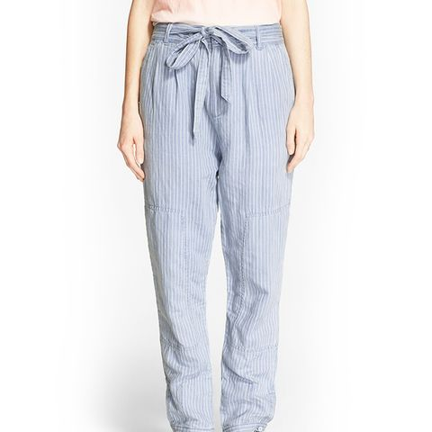 Stripe Cotton & Linen Trousers