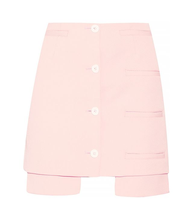 Opening Ceremony Mallory Asymmetric Twill Skirt