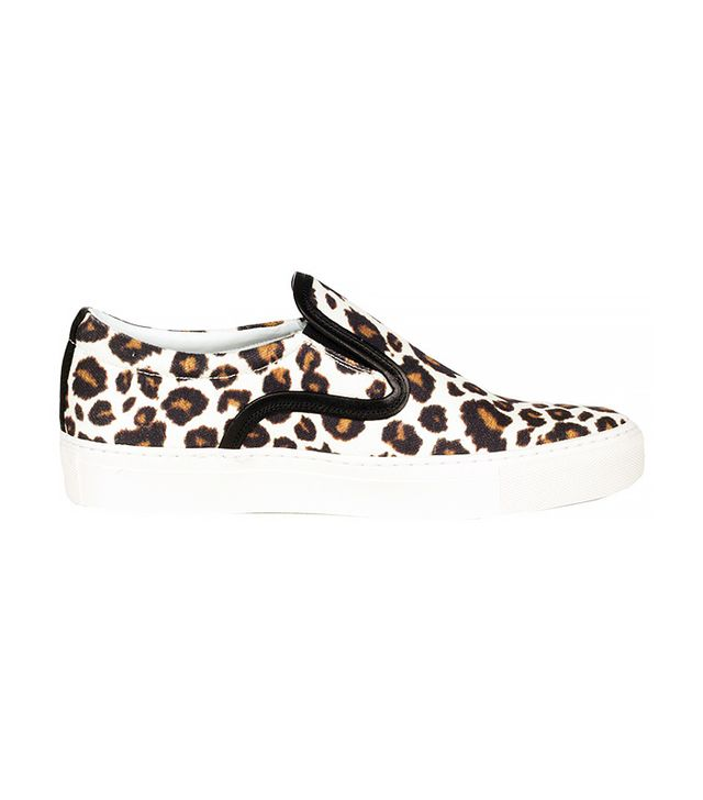 Mother of Pearl Achilles Leopard Print Canvas Slip-On Sneakers