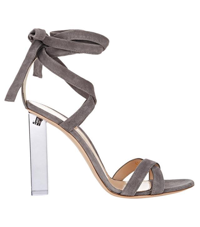 Gianvito Rossi Lucite Ankle-Tie Sandals