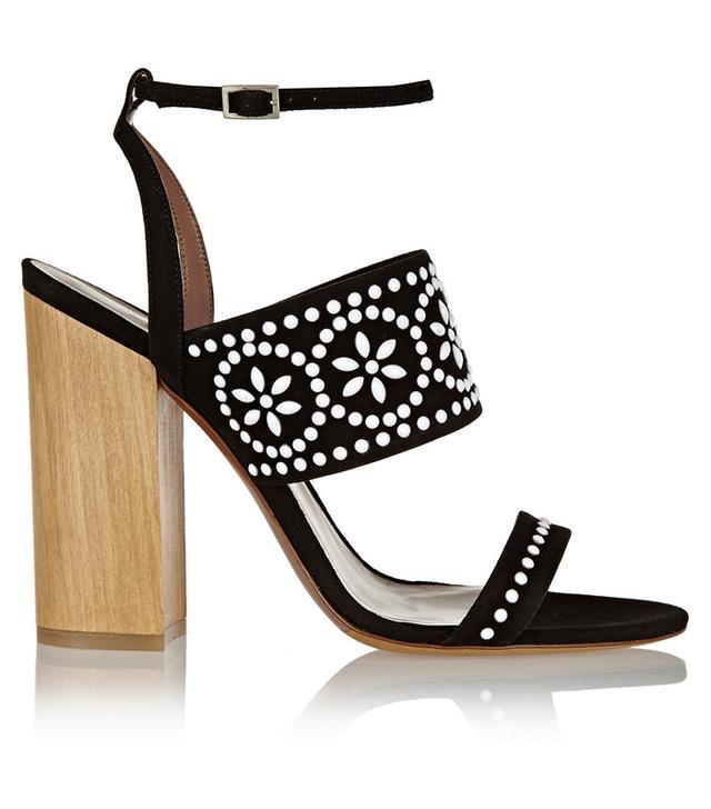 Tabitha Simmons Blaze Embellished Suede Sandals