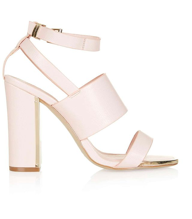 Topshop Riot Metal Trim High Heel Sandals