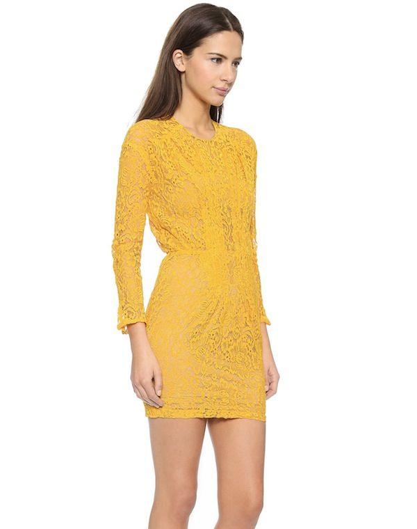 Roseanna Sara Yellow Lace Dress