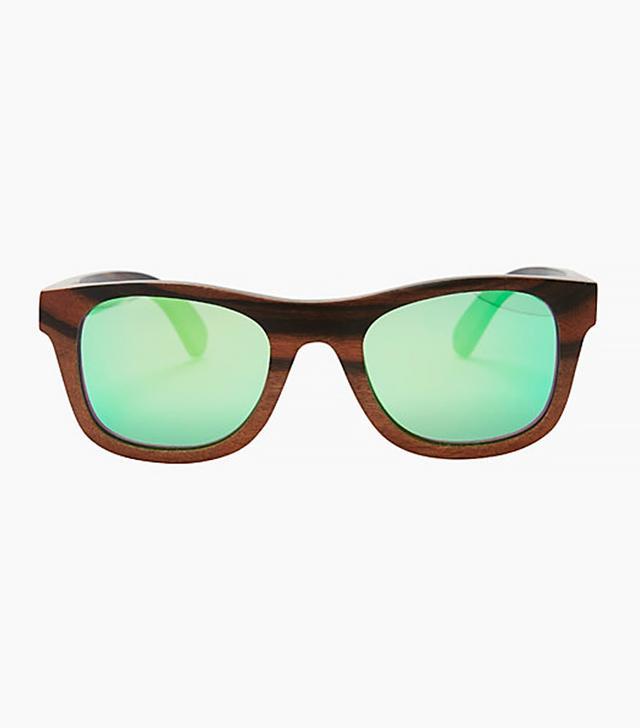 Finlay & Co. Ledbury Wooden Frame Wayfarer Sunglasses