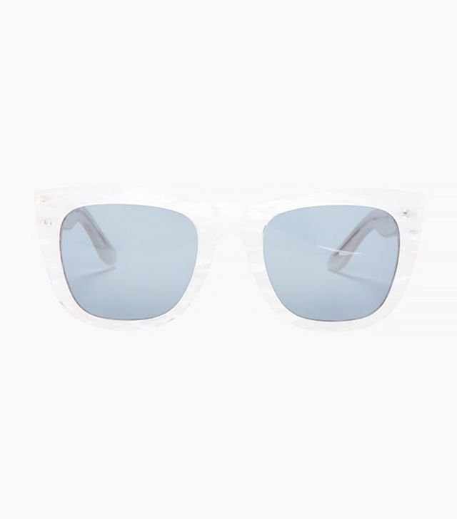 Super Sunglasses Gals Marina Iced Rim Wayfarer Sunglasses