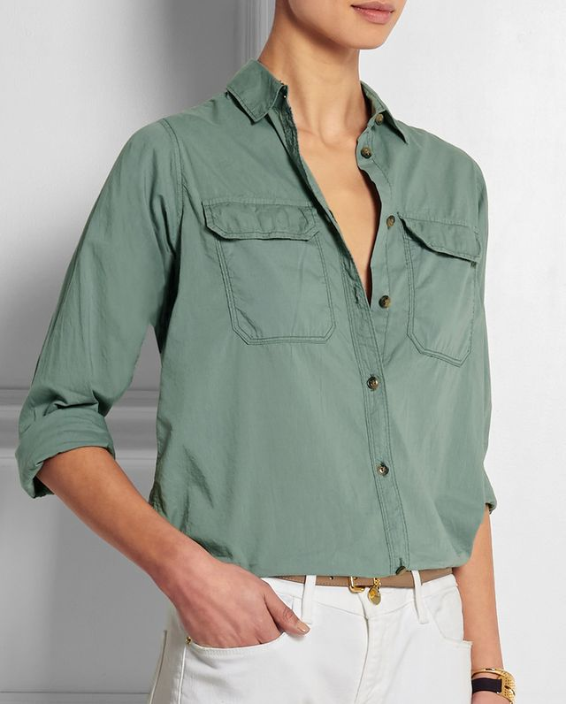 J.Crew Lightweight Camp Cotton Shirt