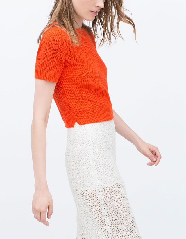 Zara Cropped Sweater